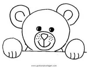 Teddy bear 01 gratis Malvorlage in Bären Tiere - ausmalen