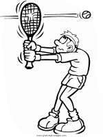 tennis gratis Malvorlage in Sport, Verschiedene Sportarten ...
