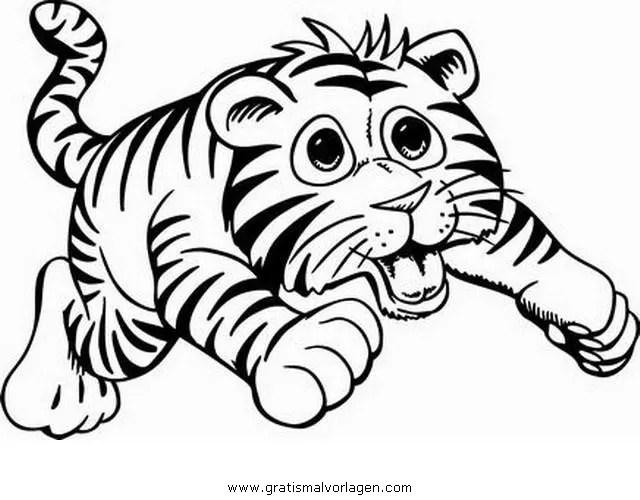 Tigerbaby 3 gratis Malvorlage in Tiere Tiger - ausmalen