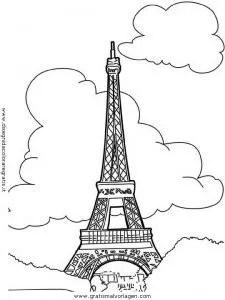Eiffelturm Paris 2 gratis Malvorlage in Geografie