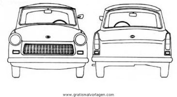 trabant p601 gratis Malvorlage in Autos, Transportmittel ...
