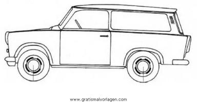 trabant p601a gratis Malvorlage in Autos, Transportmittel ...