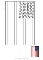 usa gratis Malvorlage in Flaggen, Geografie   ausmalen