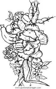 Gemüse gratis Malvorlage in Diverse Malvorlagen Garten