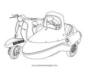 vespa 12 gratis Malvorlage in Motorrad, Transportmittel
