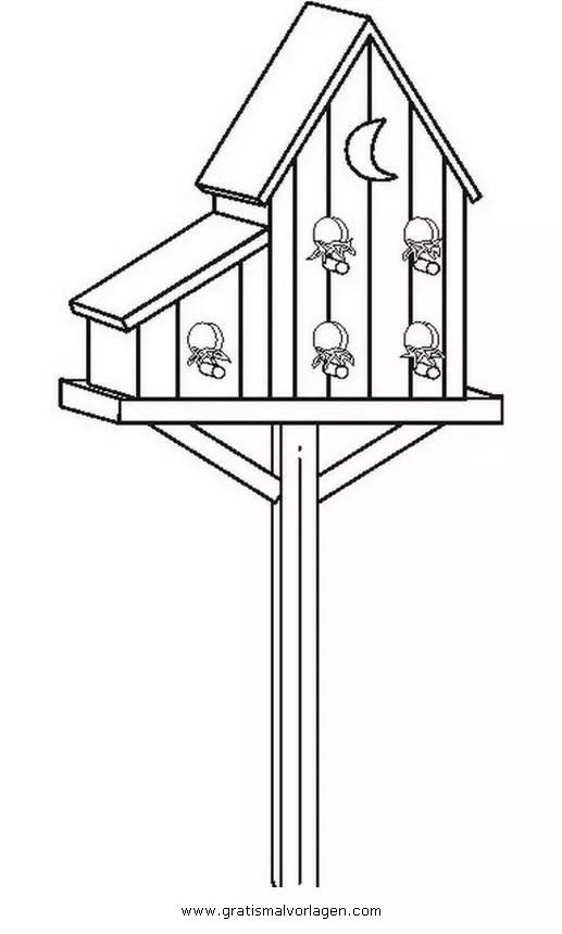 Vogelhauschen 18 gratis Malvorlage in Diverse Malvorlagen