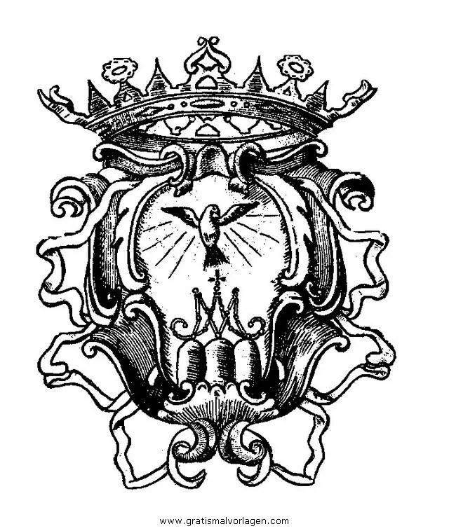 Wappenschild Malvorlage
