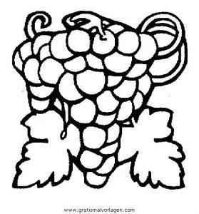 Weintrauben 8 gratis Malvorlage in Essen & Trinken
