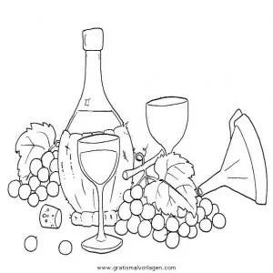 Weintrauben 9 gratis Malvorlage in Essen & Trinken
