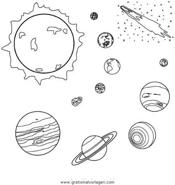 Weltal weltall planeten weltraum 3 gratis Malvorlage in
