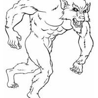 werwolf 5 gratis Malvorlage in Fantasie, Monster   ausmalen