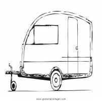 wohnwagen 2 gratis Malvorlage in Lastwagen ...