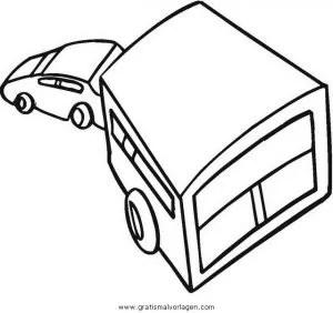 Wohnwagen 3 gratis Malvorlage in Lastwagen