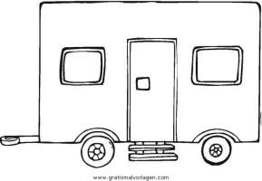 wohnwagen 4 gratis Malvorlage in Lastwagen ...