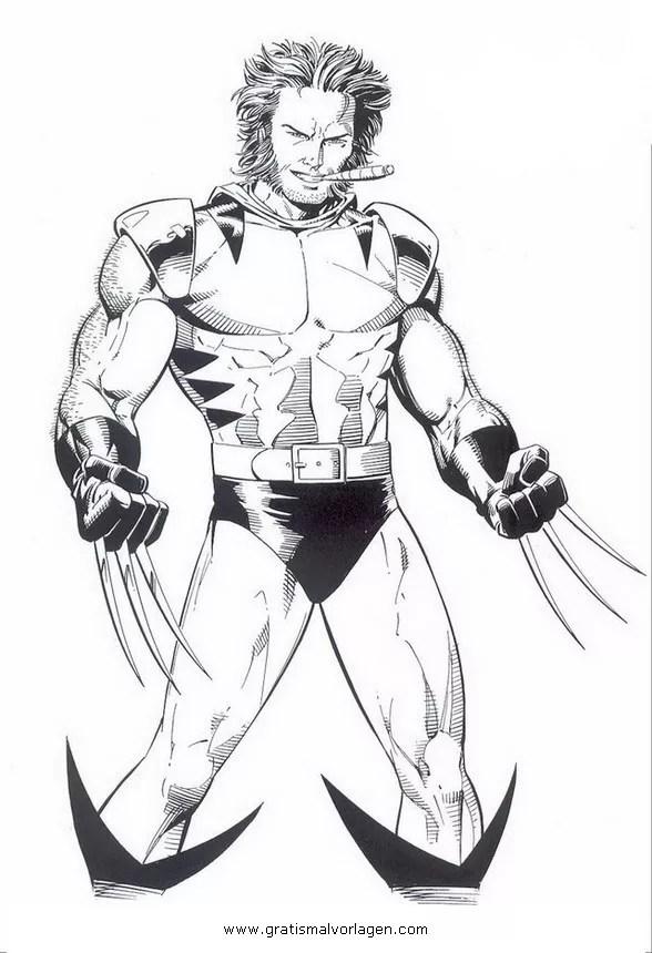 Wolverine 02 gratis Malvorlage in Comic & Trickfilmfiguren