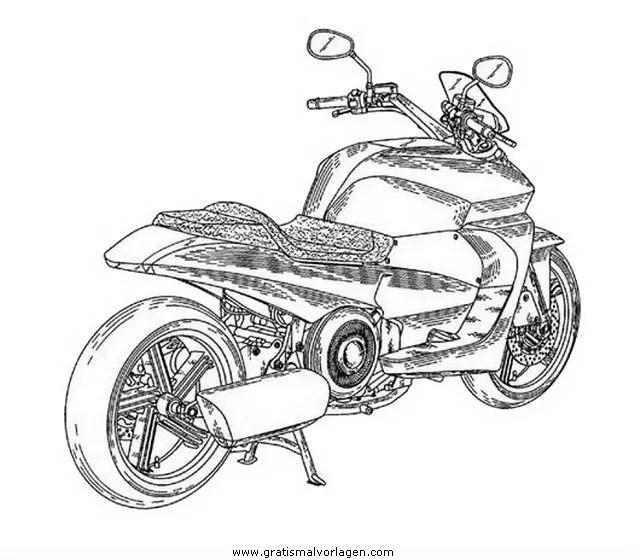 Yamaha 10 gratis Malvorlage in Motorrad Transportmittel