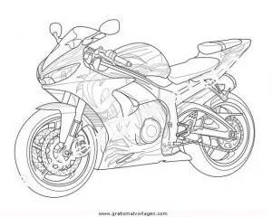 Yamaha 14 gratis Malvorlage in Motorrad Transportmittel