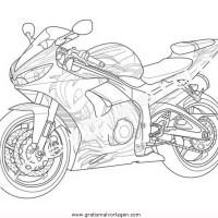 yamaha 14 gratis Malvorlage in Motorrad, Transportmittel ...