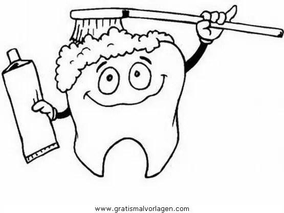 Malvorlage Zahn