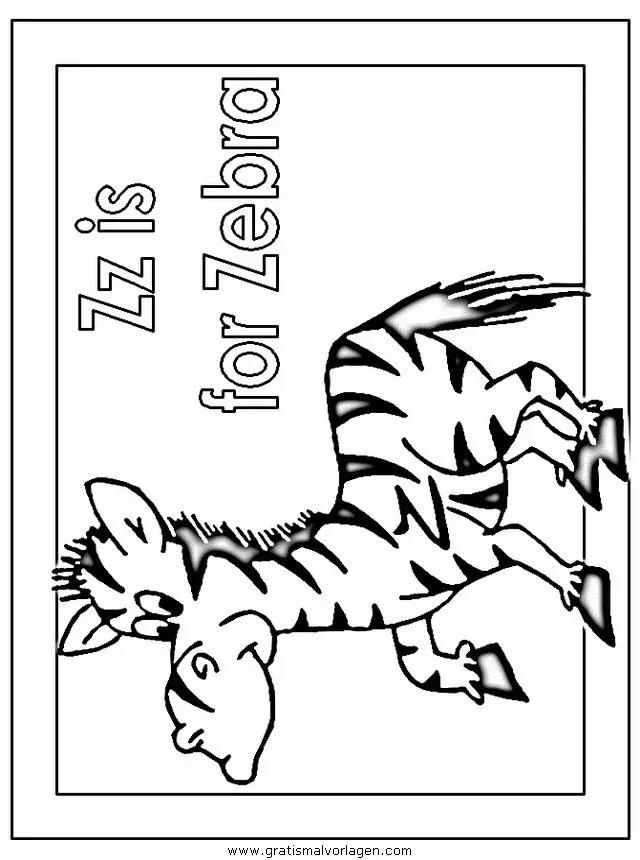 Zebras 61 gratis Malvorlage in Tiere Zebras - ausmalen