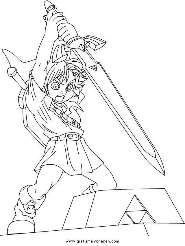 Zelda 26 Gratis Malvorlage In Comic Amp Trickfilmfiguren