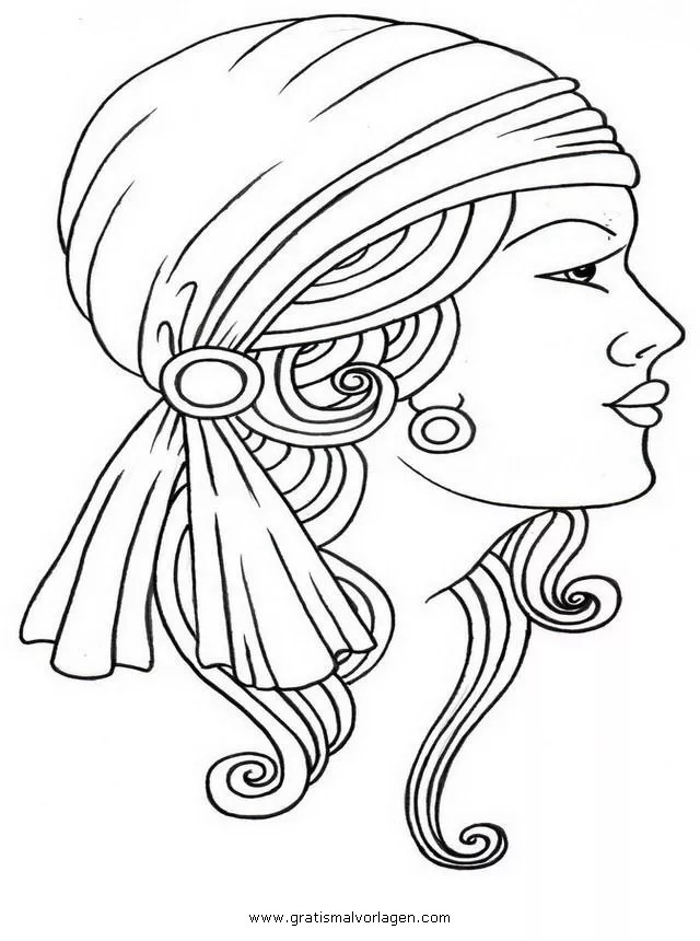 Zigeuner 11 gratis Malvorlage in Mädchen Menschen - ausmalen