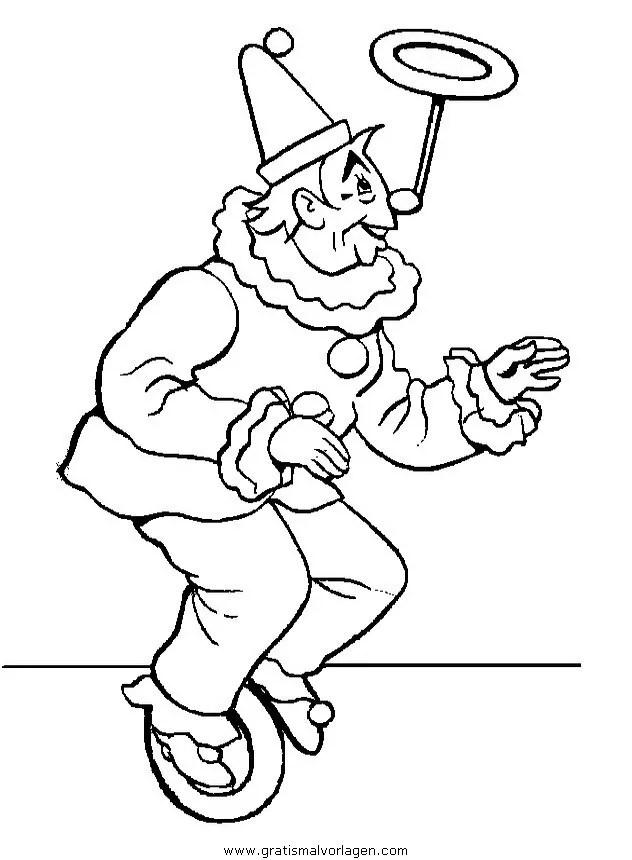 Zirkus Ausmalbilder Jongleur - Malvorlagen Gratis
