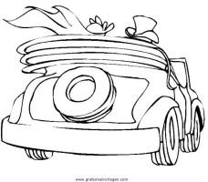 Hochzeitsauto 1 gratis Malvorlage in Beliebt13, Diverse ...