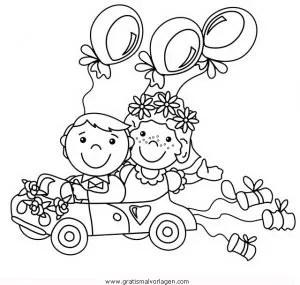 Hochzeitsauto2 gratis Malvorlage in Beliebt13 Diverse
