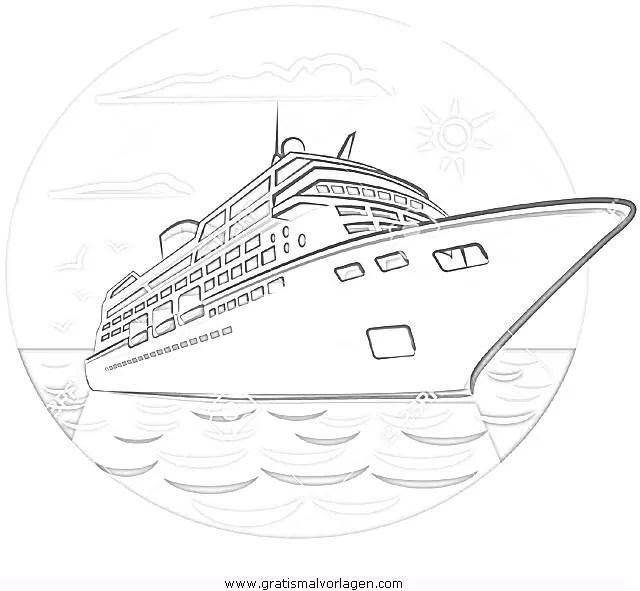 Kreuzfahrtschiff-1 gratis Malvorlage in Schiffe