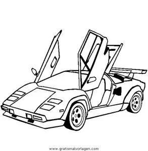 Lamborghini-Countach gratis Malvorlage in Autos