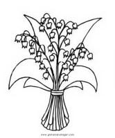 Maiglockchen 2 gratis Malvorlage in Blumen, Natur   ausmalen