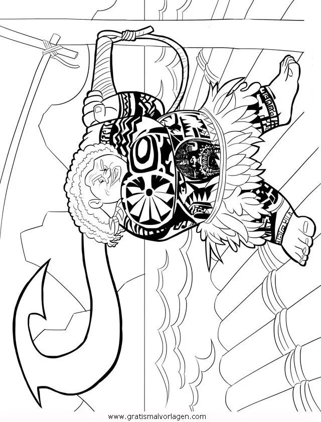 Vaiana-07 gratis Malvorlage in Comic & Trickfilmfiguren