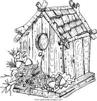 Vogelhaus gratis Malvorlage in Diverse Malvorlagen, Garten ...