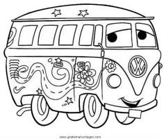bulli 1 gratis Malvorlage in Autos, Transportmittel   ausmalen