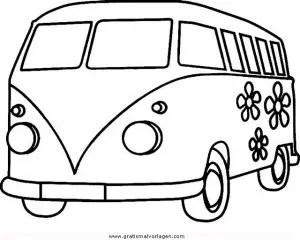 Bulli-3 gratis Malvorlage in Autos Transportmittel - ausmalen