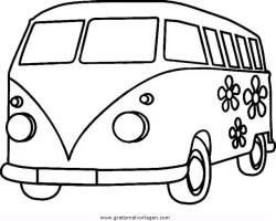 bulli 3 gratis Malvorlage in Autos, Transportmittel   ausmalen