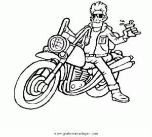 Chopper-2 gratis Malvorlage in Motorrad Transportmittel