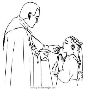 Kommunion 3 gratis Malvorlage in Religionen Religiöse