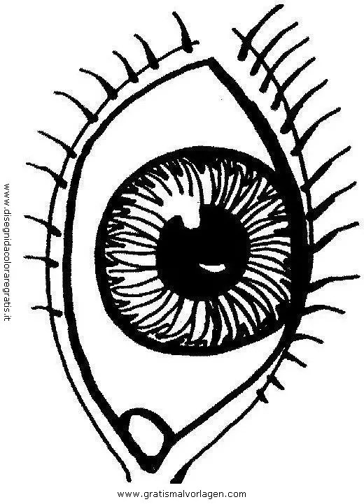 Das Auge 1 gratis Malvorlage in Diverse Malvorlagen