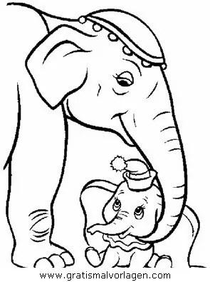 Dumbo 02 gratis Malvorlage in Comic & Trickfilmfiguren