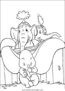 Dumbo 12 gratis Malvorlage in Comic & Trickfilmfiguren