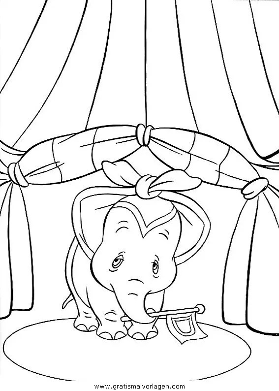 Dumbo 21 gratis Malvorlage in Comic & Trickfilmfiguren