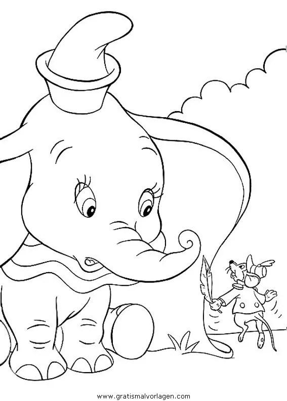 Dumbo 23 gratis Malvorlage in Comic & Trickfilmfiguren
