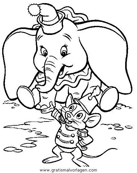 Dumbo 25 gratis Malvorlage in Comic & Trickfilmfiguren