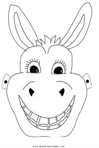 Esel-maske gratis Malvorlage in Feste Karneval - ausmalen