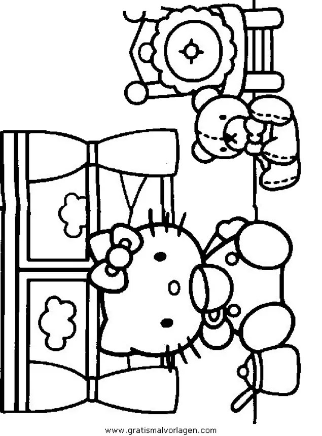 Hallo kitty 12 gratis Malvorlage in Comic