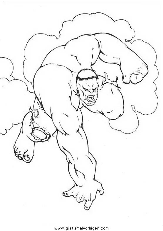 Hulk 02 gratis Malvorlage in Comic & Trickfilmfiguren