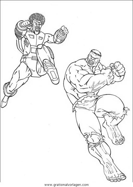 Hulk 20 gratis Malvorlage in Comic & Trickfilmfiguren