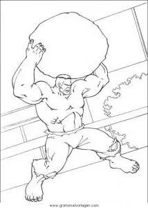 Hulk 32 gratis Malvorlage in Comic & Trickfilmfiguren